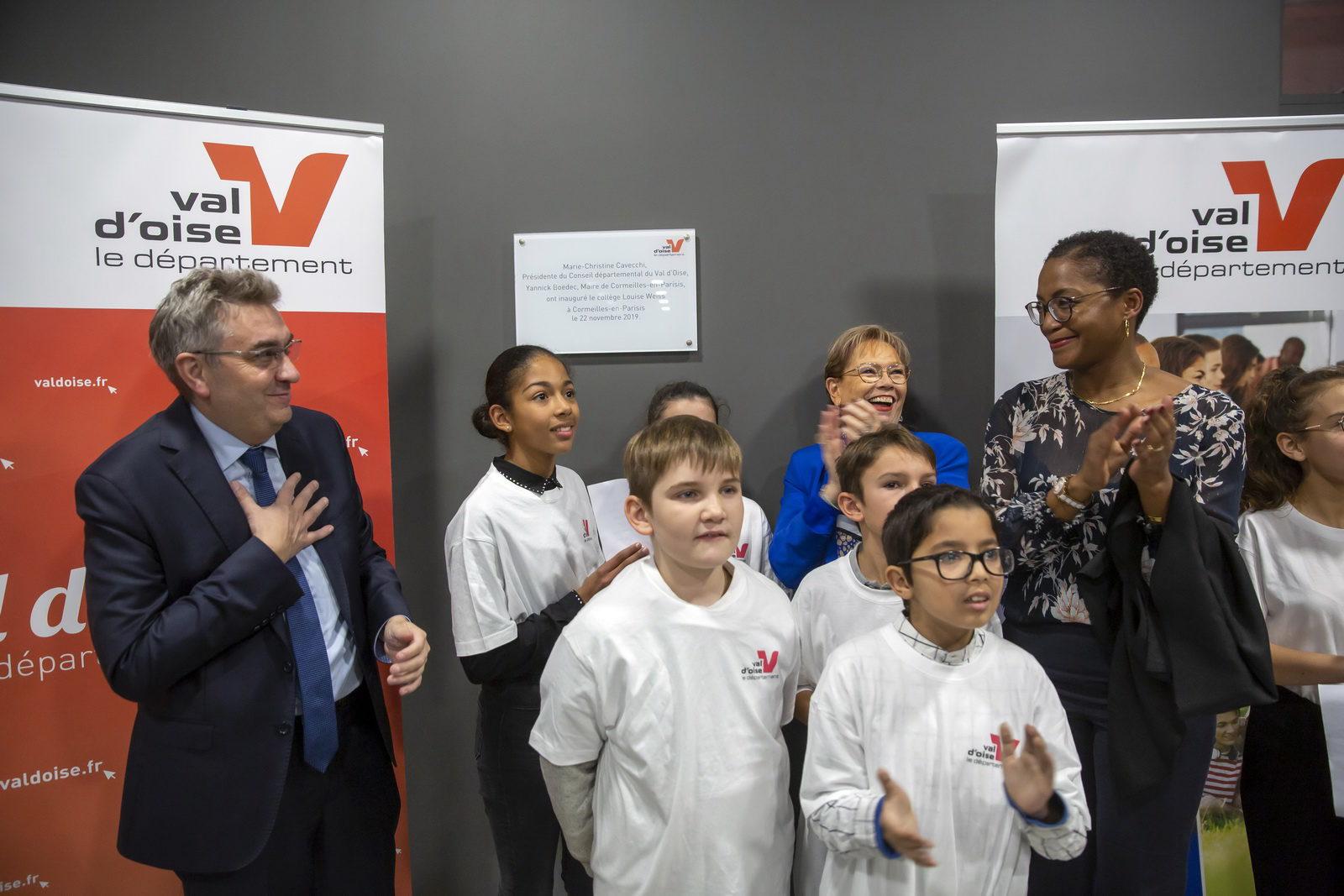 Inauguration du collège Louise Weiss à Cormeilles-en-Parisis CDVO - J.-Y.LACOTE