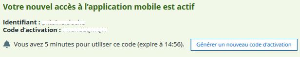 Code activation